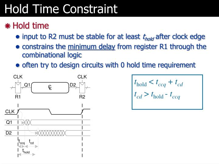 Hold Time Constraint