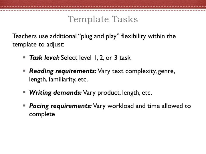 Template Tasks