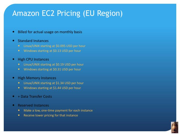 Amazon EC2 Pricing (EU Region)