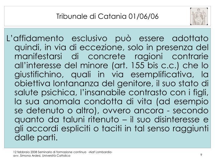 Tribunale di Catania 01/06/06