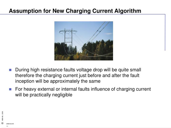 Assumption for New Charging Current Algorithm