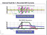 internal fault no 1 recorded diff currents