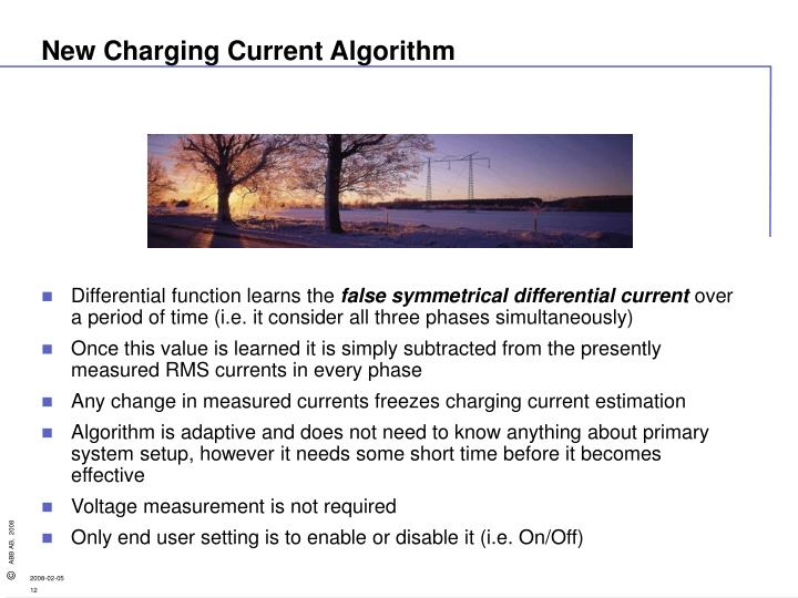 New Charging Current Algorithm