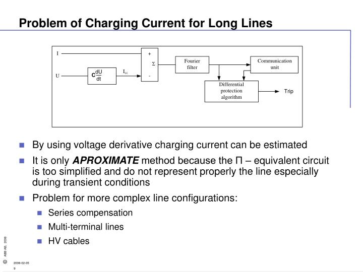 Problem of Charging Current for Long Lines