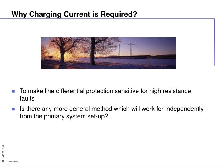 Why Charging Current is Required?