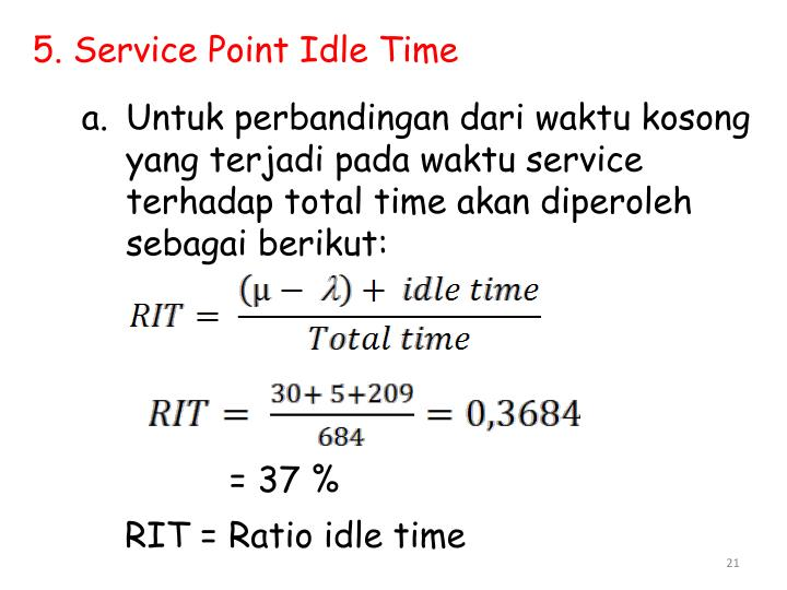 5. Service Point Idle Time
