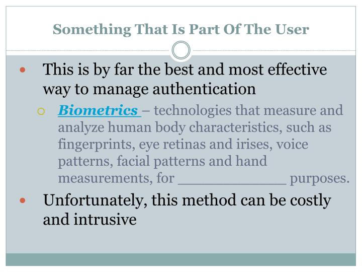 Something That Is Part Of The User