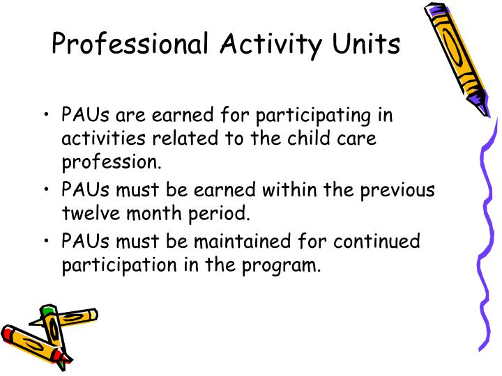 Professional Activity Units