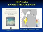 rmp data enable projections