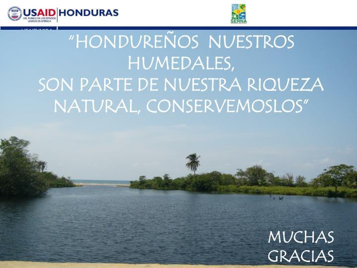 """""""HONDUREÑOS  NUESTROS HUMEDALES,"""
