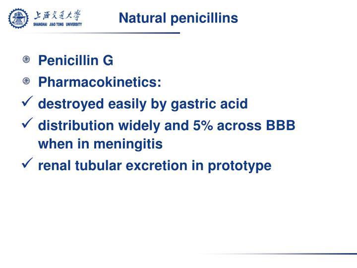 Natural penicillins
