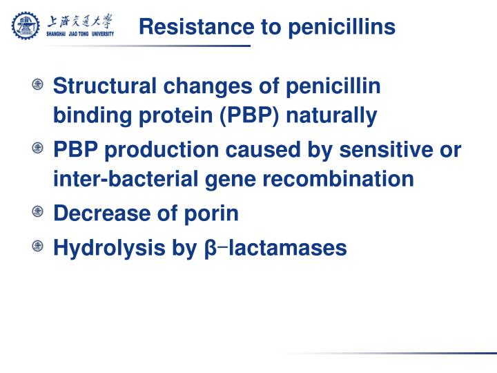 Resistance to penicillins