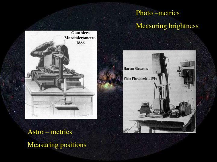 Photo –metrics
