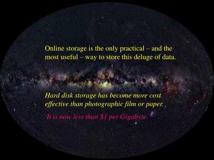 Online storage is the only practical – and the most useful – way to store this deluge of data.