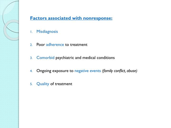 Factors associated with nonresponse: