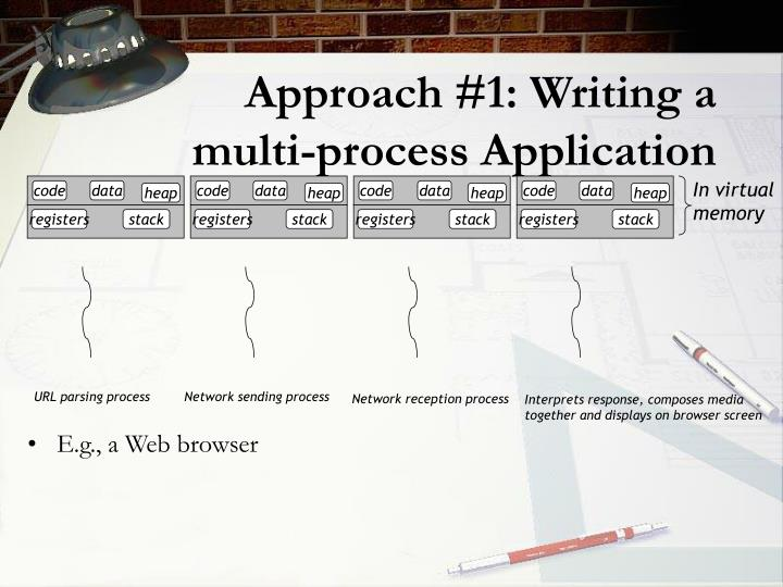 Approach #1: Writing a multi-process Application
