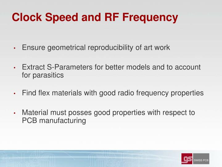 Clock Speed and RF Frequency