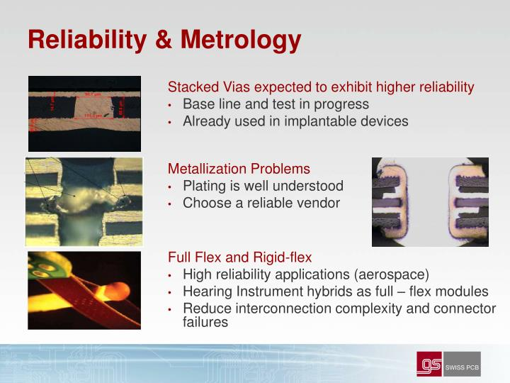 Reliability & Metrology