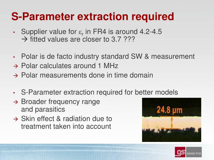 S-Parameter extraction required