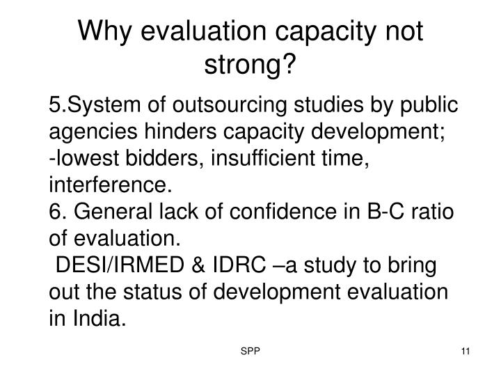 Why evaluation capacity not strong?