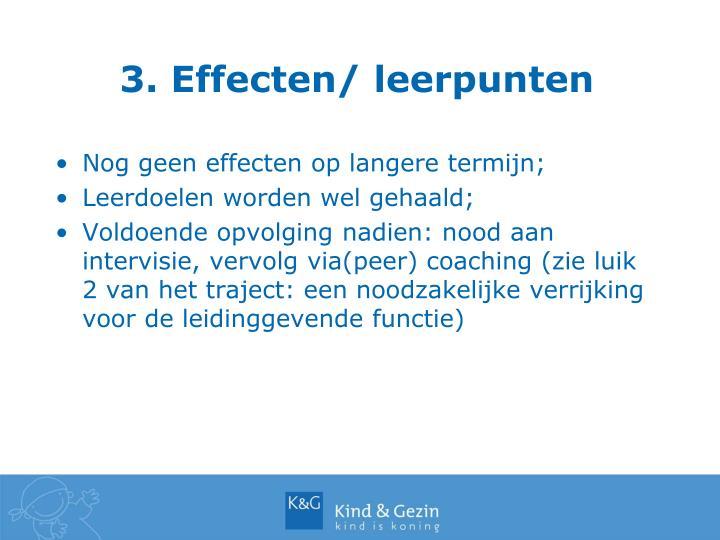 3. Effecten/ leerpunten