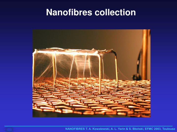 Nanofibres collection