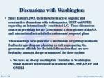 discussions with washington