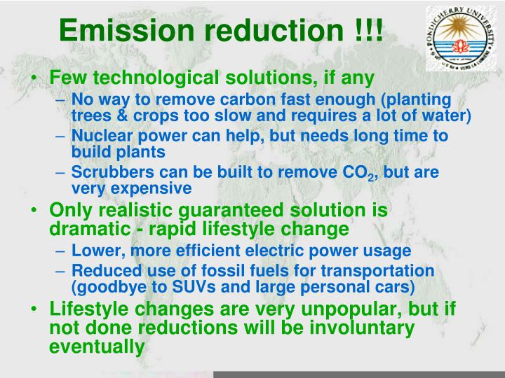 Emission reduction !!!