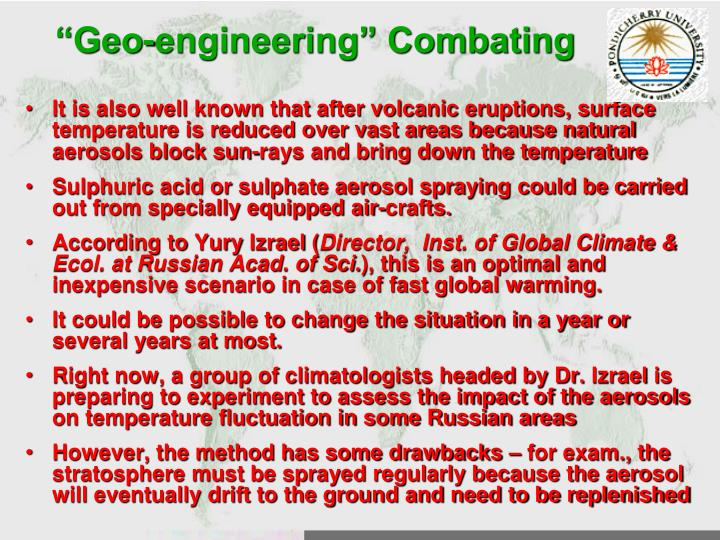 """Geo-engineering"" Combating"