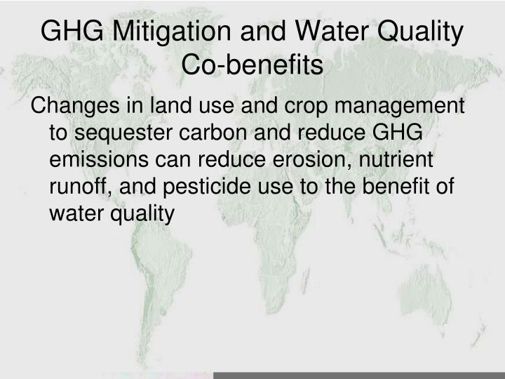 GHG Mitigation and Water Quality Co-benefits