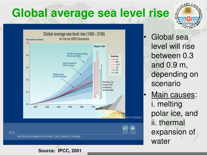 Global average sea level rise