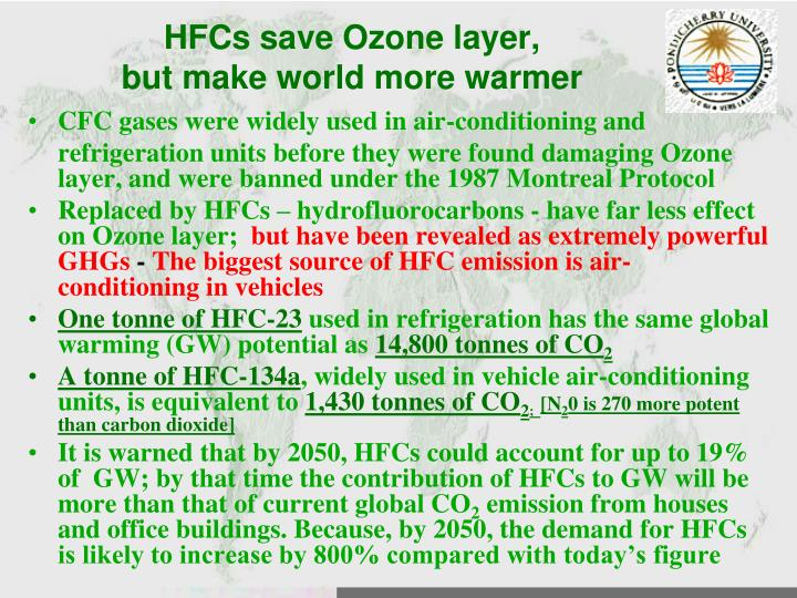 HFCs save Ozone layer,