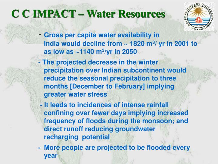 C C IMPACT – Water Resources