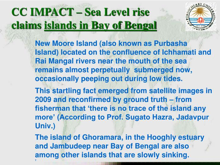 CC IMPACT – Sea Level rise claims