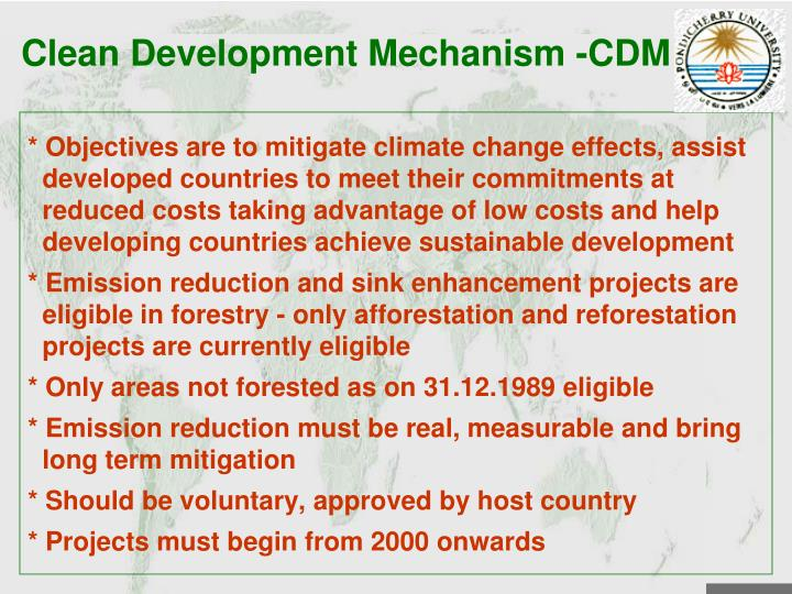 Clean Development Mechanism -CDM