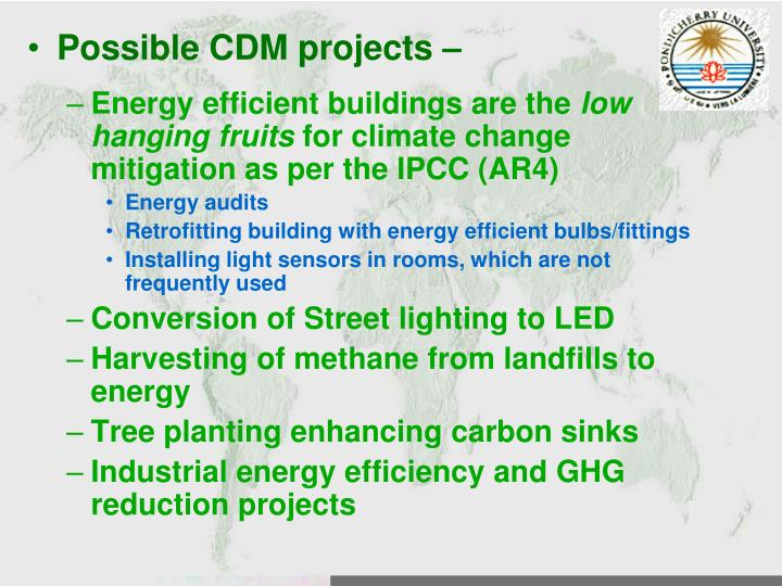 Possible CDM projects –