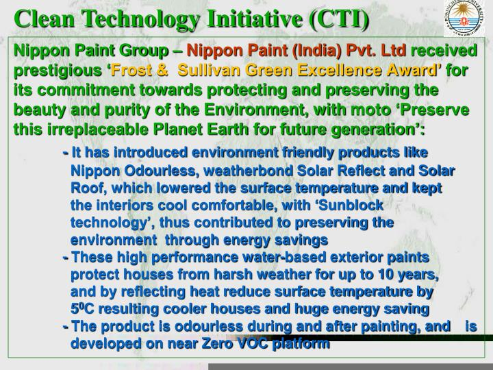 Clean Technology Initiative (CTI)