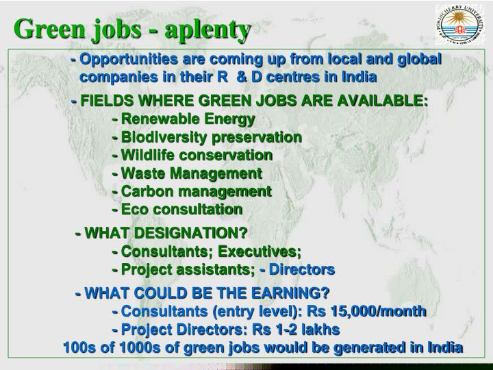 Green jobs - aplenty