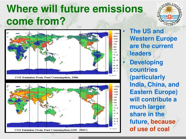 Where will future emissions come from?