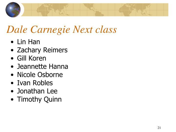 Dale Carnegie Next class