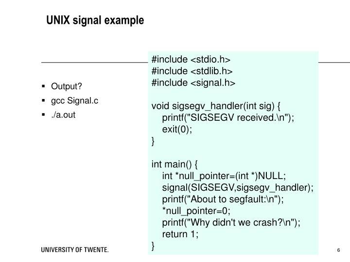 UNIX signal example