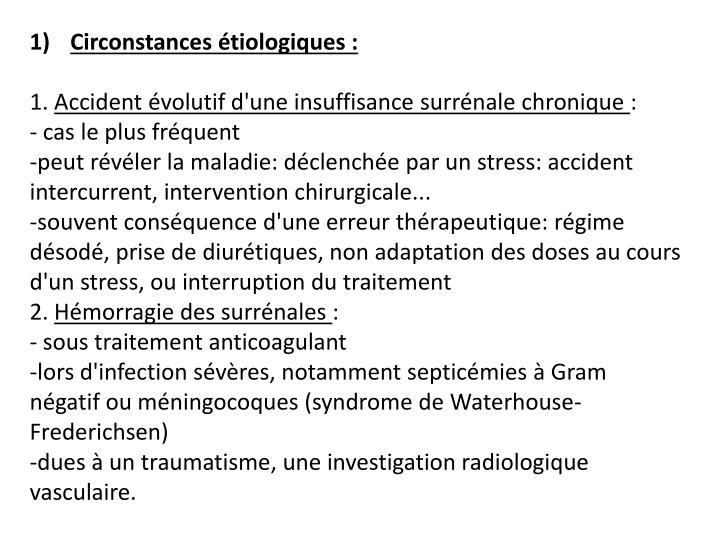 Circonstances