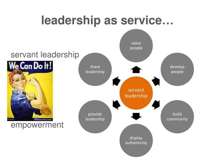 leadership as service…