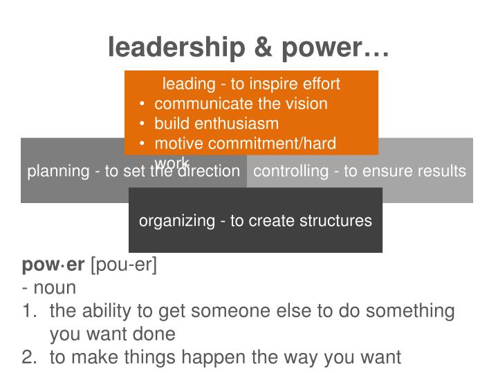 leadership & power…