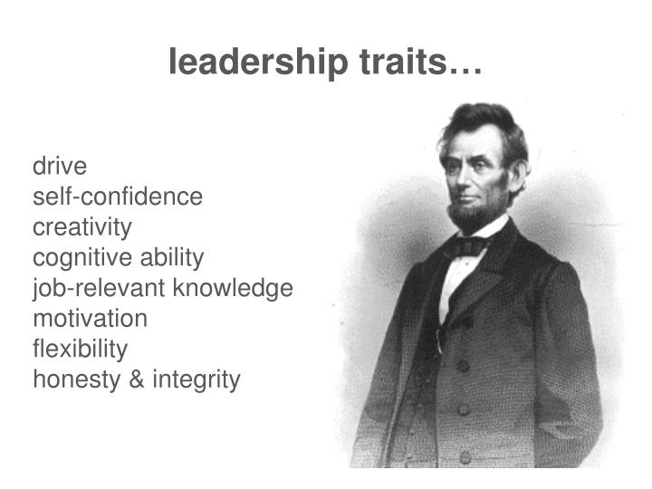 leadership traits…