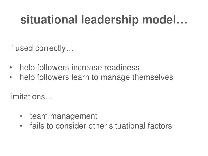situational leadership model…