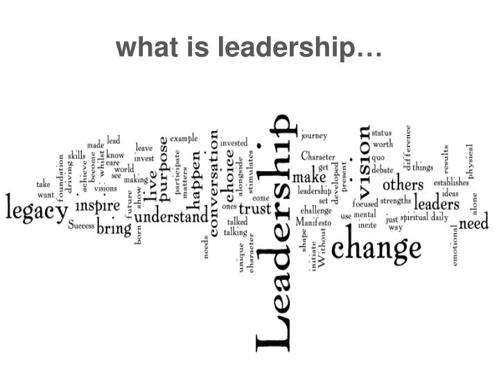 what is leadership…