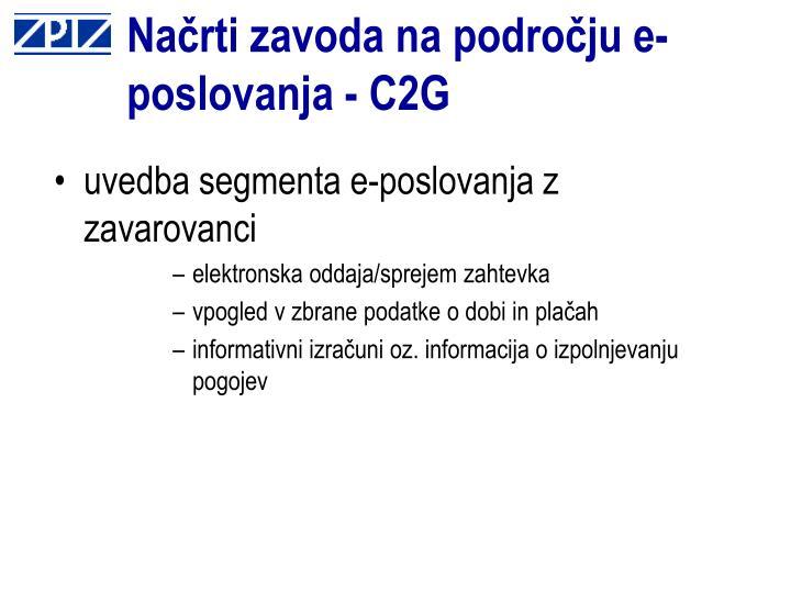 Načrti zavoda na področju e-poslovanja - C2G
