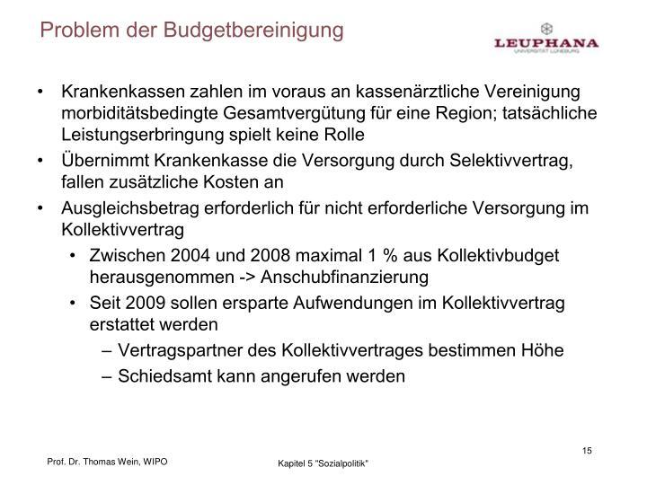 Problem der Budgetbereinigung