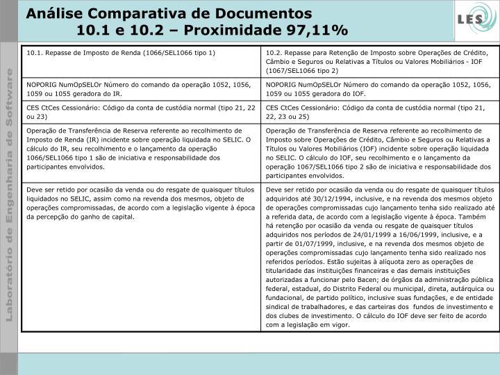 Análise Comparativa de Documentos
